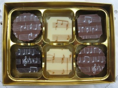 Musical Chocolates - Box of 6 assorted