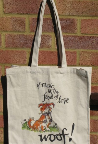 """""""If Music be the Food of Love"""" Tote bag"""