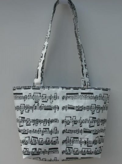 """Mozart"" Music Themed Tote Bag"