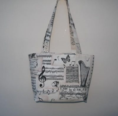 Music Themed Tote Bag
