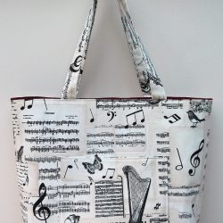"""Bach"" Music themed extra large tote bag"