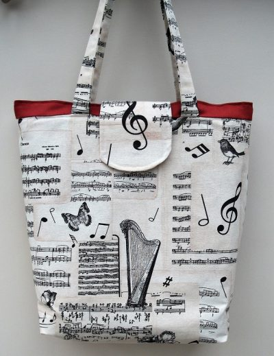 """""""Bach"""" Music themed Large Tote Bag"""