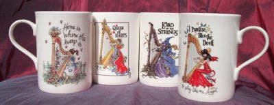 China Mugs Set of 4