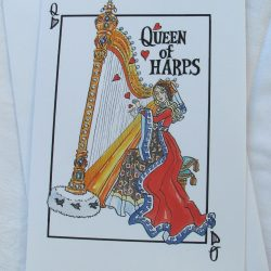 """Queen of Harps""  Greetings Cards - pack of 4"