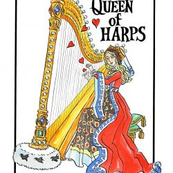"""Queen of Harps"" Tea Towel"