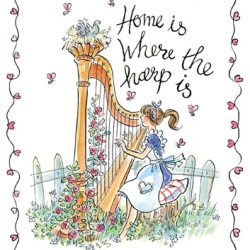 """Home is Where the Harp is ""Tea Towel"
