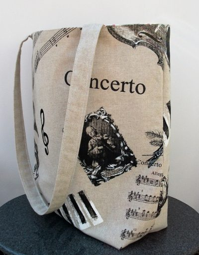 """Vivaldi"" Handmade music themed  Bag"