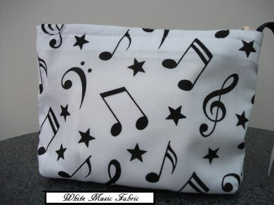 White Music Fabric
